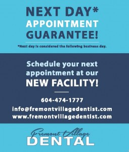 Next day appointment guarantee!